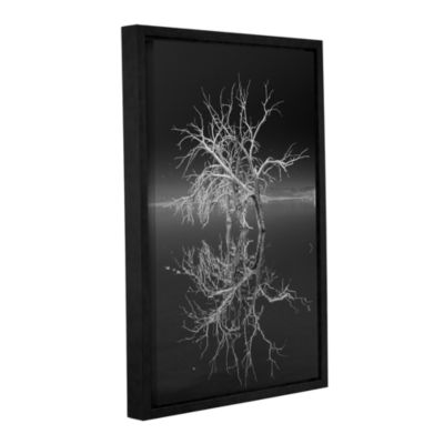 Brushstone Mirror Mirror Black And White Gallery Wrapped Floater-Framed Canvas Wall Art