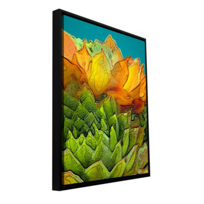 Brushstone Sur Suculenta Gallery Wrapped Floater-Framed Canvas Wall Art