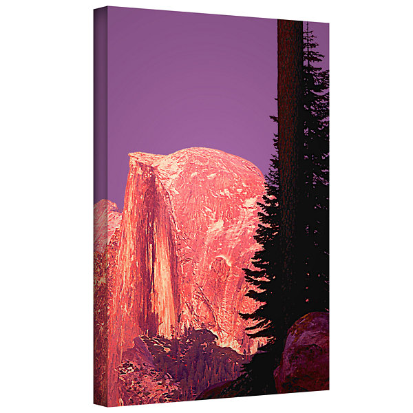 Brushstone Halfdome Glow Gallery Wrapped Canvas Wall Art