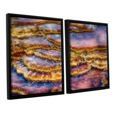Brushstone Pancakes Hot Springs 2-pc. Floater Framed Canvas Wall Art