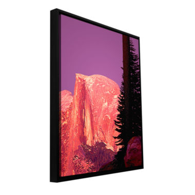 Brushstone Halfdome Glow Gallery Wrapped Floater-Framed Canvas Wall Art