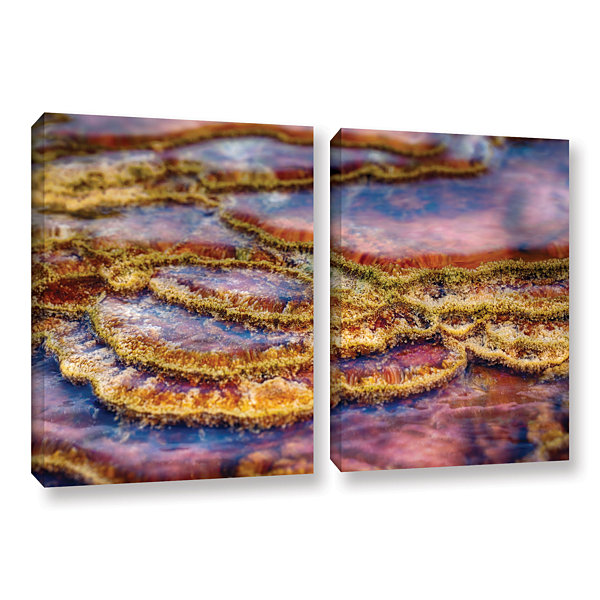 Brushstone Pancakes Hot Springs 2-pc. Gallery Wrapped Canvas Wall Art
