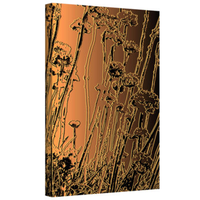 Brushstone In The Garden Gallery Wrapped Canvas Wall Art