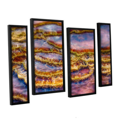 Brushstone Pancakes Hot Springs 4-pc. Floater Framed Staggered Canvas Wall Art