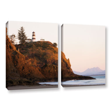 Brushstone Lighthouse 2-pc. Gallery Wrapped Canvas Wall Art