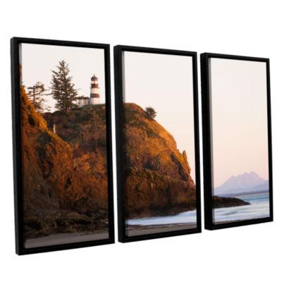 Brushstone Lighthouse 3-pc. Floater Framed CanvasWall Art