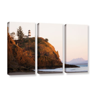 Brushstone Lighthouse 3-pc. Gallery Wrapped CanvasWall Art