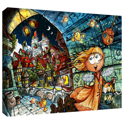 Brushstone Lighthouse Elf Village Gallery Wrapped Canvas Wall Art