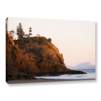 Brushstone Lighthouse Gallery Wrapped Canvas WallArt