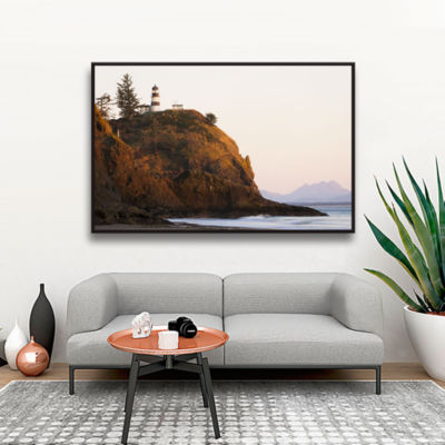 Brushstone Lighthouse Gallery Wrapped Floater-Framed Canvas Wall Art
