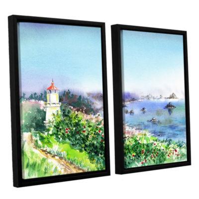 Brushstone Lighthouse Trinidat 2-pc. Floater Framed Canvas Wall Art