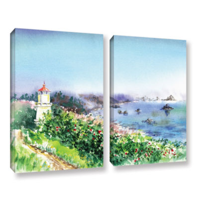 Brushstone Lighthouse Trinidat 2-pc. Gallery Wrapped Canvas Wall Art
