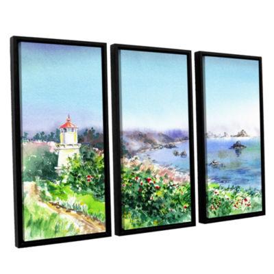 Brushstone Lighthouse Trinidat 3-pc. Floater Framed Canvas Wall Art