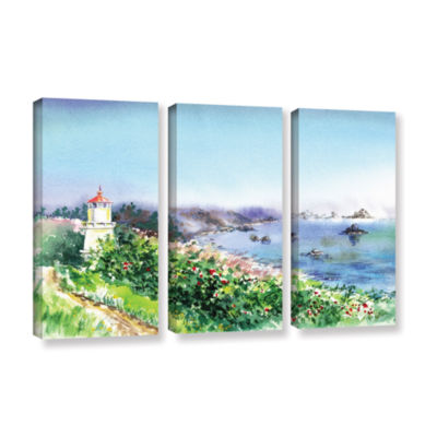 Brushstone Lighthouse Trinidat 3-pc. Gallery Wrapped Canvas Wall Art