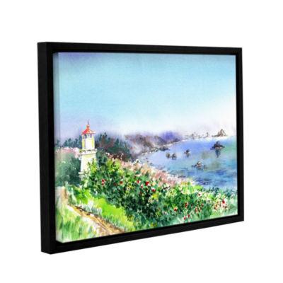 Brushstone Lighthouse Trinidat Gallery Wrapped Floater-Framed Canvas Wall Art