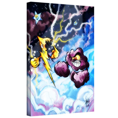 Brushstone Lightning Gallery Wrapped Canvas Wall Art