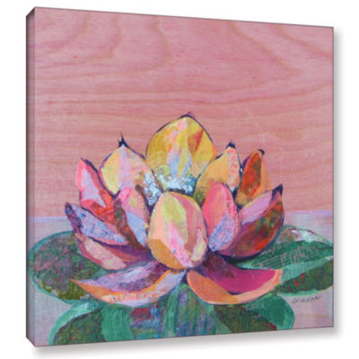 Brushstone Lotus 1 Gallery Wrapped Canvas Wall Art