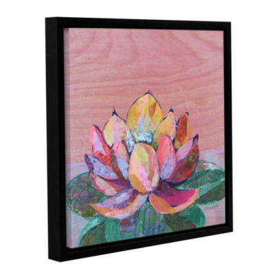 Brushstone Lotus 1 Gallery Wrapped Floater-FramedCanvas Wall Art