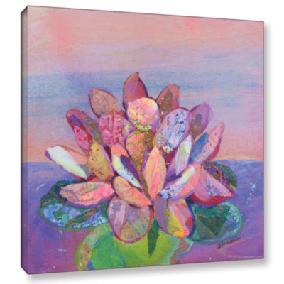 Brushstone Lotus 2 Gallery Wrapped Canvas Wall Art