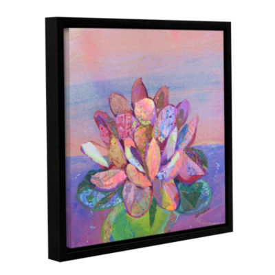 Brushstone Lotus 2 Gallery Wrapped Floater-FramedCanvas Wall Art