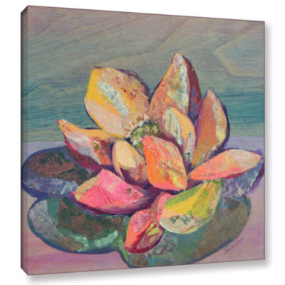 Brushstone Lotus 3 Gallery Wrapped Canvas Wall Art