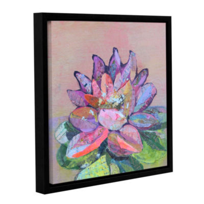 Brushstone Lotus 5 Gallery Wrapped Floater-FramedCanvas Wall Art