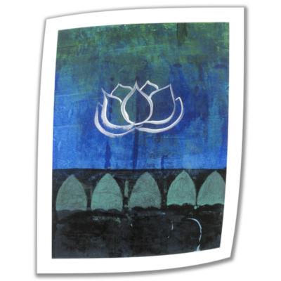 Brushstone Lotus Blossom (006) Canvas Wall Art