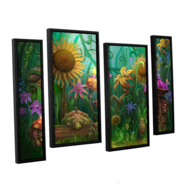 Brushstone Meet The Imaginaries 4-pc. Floater Framed Staggered Canvas Wall Art