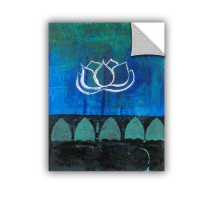 Brushstone Lotus Blossom (006) Removable Wall Decal