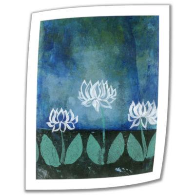 Brushstone Lotus Blossom Canvas Wall Art