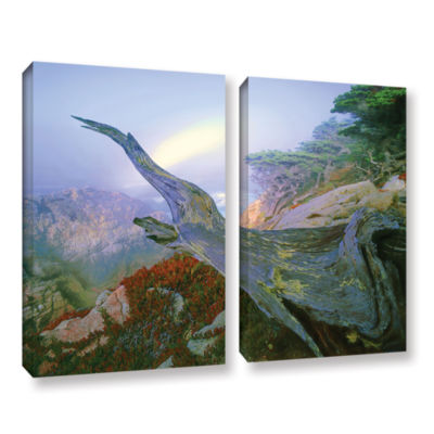 Brushstone Like A Flame 2-pc. Gallery Wrapped Canvas Wall Art