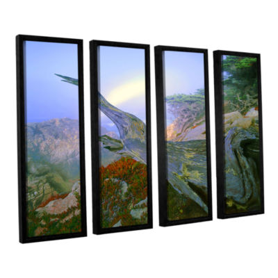 Brushstone Like A Flame 4-pc. Floater Framed Canvas Wall Art