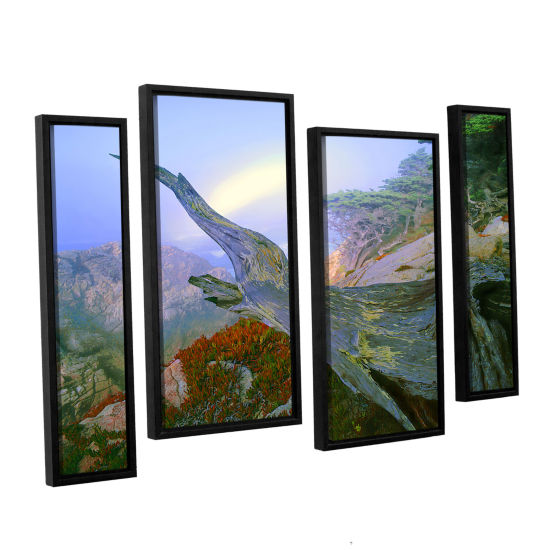 Brushstone Like A Flame 4-pc. Floater Framed Staggered Canvas Wall Art