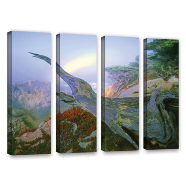 Brushstone Like A Flame 4-pc. Gallery Wrapped Canvas Wall Art