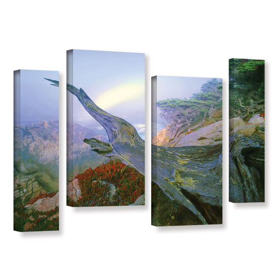 Brushstone Like A Flame 4-pc. Gallery Wrapped Staggered Canvas Wall Art