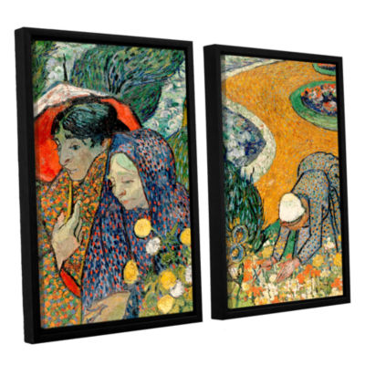 Brushstone Memory Of The Garden At Etten (Ladies Of Arles) 2-pc. Floater Framed Canvas Wall Art