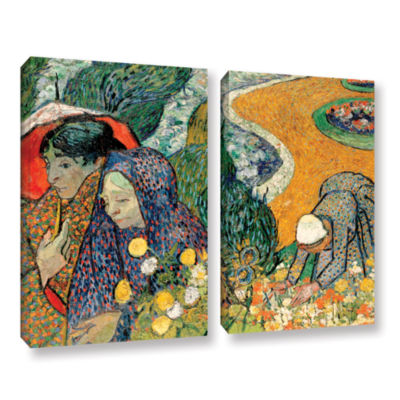 Brushstone Memory Of The Garden At Etten (Ladies Of Arles) 2-pc. Gallery Wrapped Canvas Wall Art