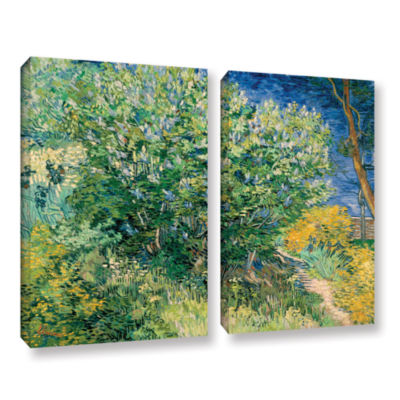 Brushstone Lilacs 2-pc. Gallery Wrapped Canvas Wall Art