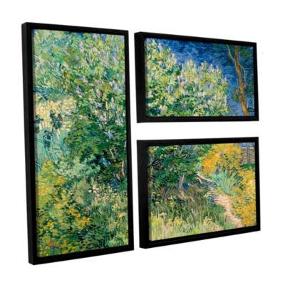 Brushstone Lilacs 3-pc. Flag Floater Framed CanvasWall Art