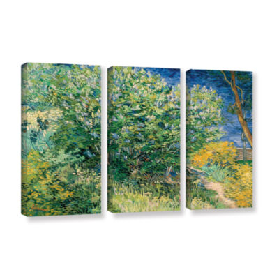 Brushstone Lilacs 3-pc. Gallery Wrapped Canvas Wall Art