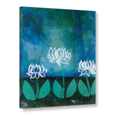 Brushstone Lotus Blossom Gallery Wrapped Canvas Wall Art
