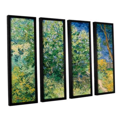 Brushstone Lilacs 4-pc. Floater Framed Canvas WallArt