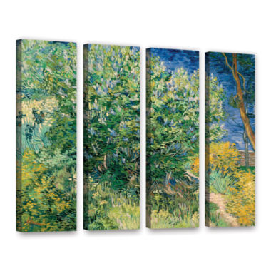 Brushstone Lilacs 4-pc. Gallery Wrapped Canvas Wall Art