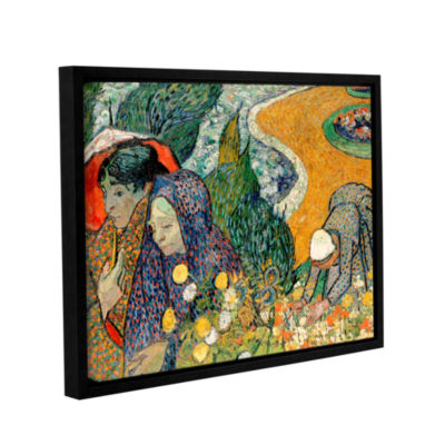 Brushstone Memory Of The Garden At Etten (Ladies Of Arles) Gallery Wrapped Floater-Framed Canvas Wall Art