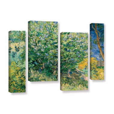 Brushstone Lilacs 4-pc. Gallery Wrapped StaggeredCanvas Wall Art