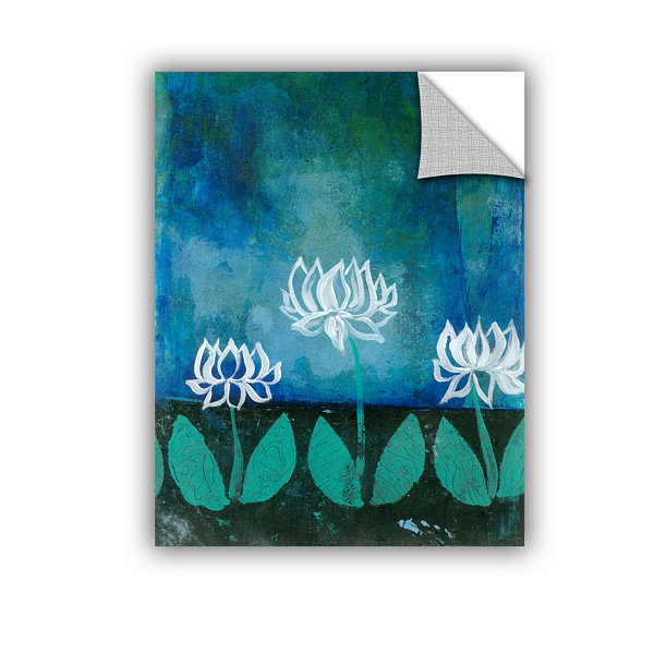 Brushstone Lotus Blossom (007) Removable Wall Decal