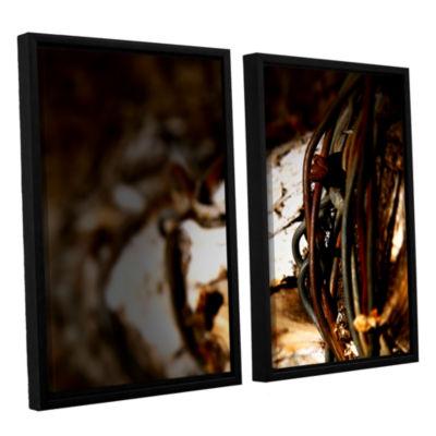 Brushstone Mend 2-pc. Floater Framed Canvas Wall Art