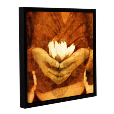 Brushstone Lotus Gallery Wrapped Floater-Framed Canvas Wall Art