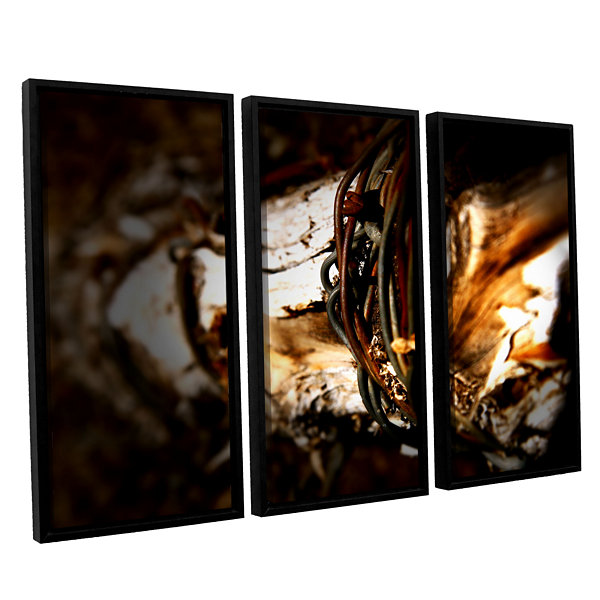 Brushstone Mend 3-pc. Floater Framed Canvas Wall Art