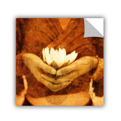 Brushstone Lotus Removable Wall Decal